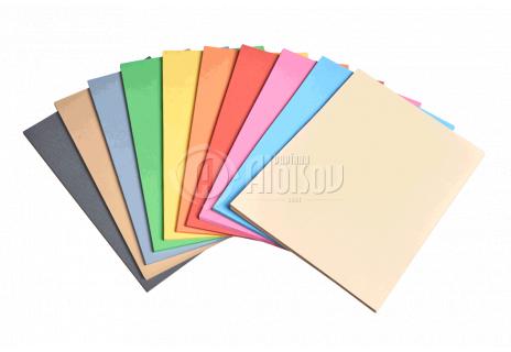 Barevný recyklovaný papír hnědý A4/180g/100 listů