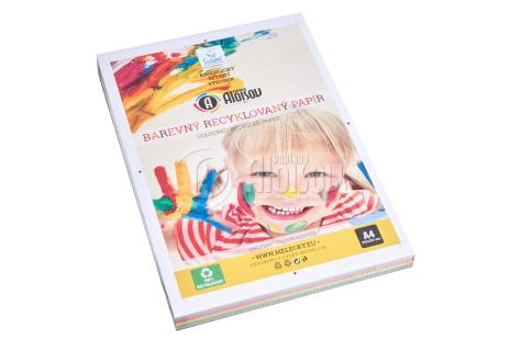 Barevný recyklovaný papír žlutý A4/80g/100 listů