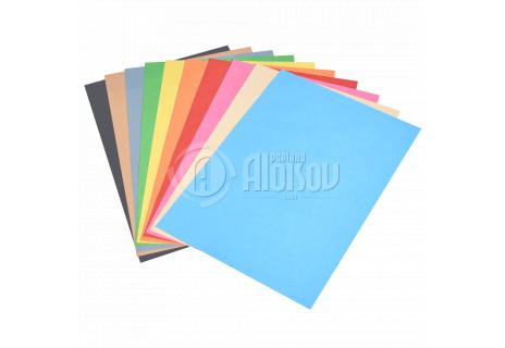 Barevný recyklovaný papír duha 10 barev A3/80g/100 listů