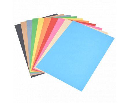 Barevný recyklovaný papír duha 10 barev A4/180g/100 listů
