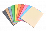 Složka barevných recyklovaných papírů