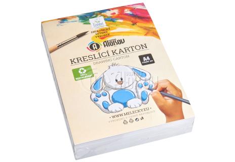 Kreslící recyklovaný karton bílý A4/180g/200 listů