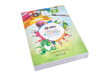 Kreslící recyklovaný karton bílý A3/180g/200 listů