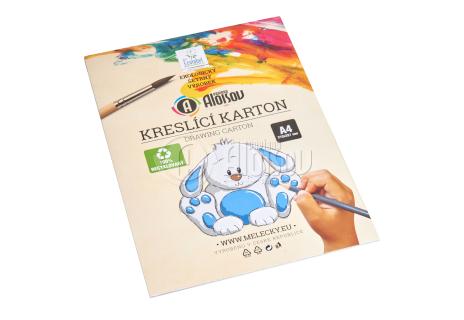 Kreslící recyklovaný karton bílý A4/180g/10 listů