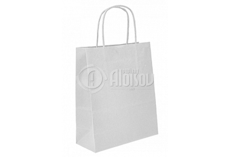 Papírová taška bílá 240x310x100 mm