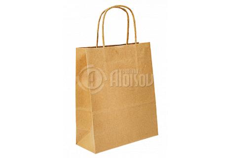 Papírová taška hnědá 240x310x100mm
