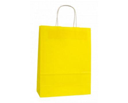 Papírová taška žlutá 320x410x140mm