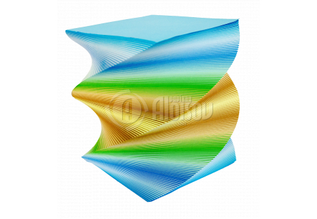 Barevný bloček extra velký, točený, 1410 listů, 120x120x150mm