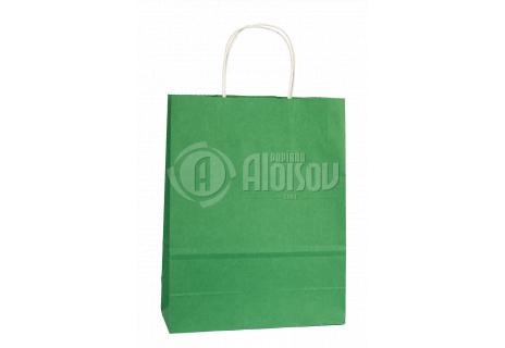 Papírová taška zelená 240x310x100mm