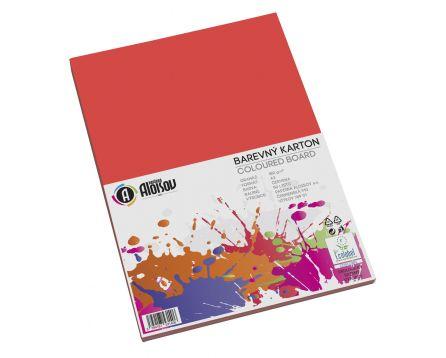 Barevný papír červený A3/180g/50 listů