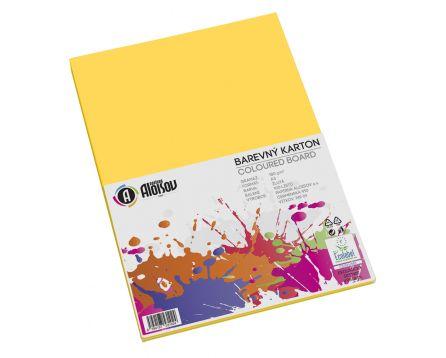 Barevný papír žlutý A3/180g/100 listů