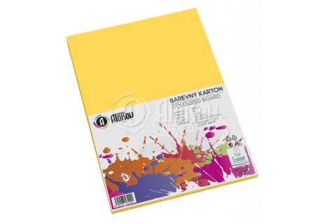 Barevný papír žlutý A3/180g/50 listů
