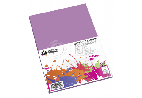 Barevný papír fialový A4/180g/100 listů