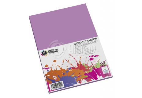 Barevný papír fialový A4/180g/50 listů
