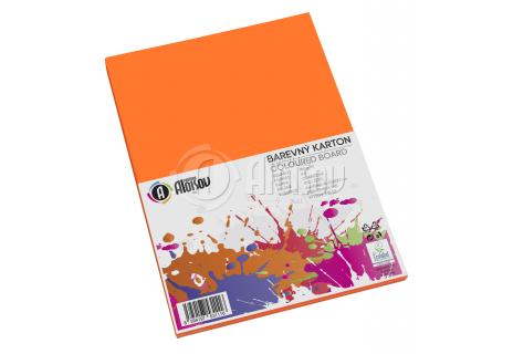 Barevný papír oranžový A4/180g/100 listů
