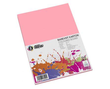Barevný papír růžový A4/180g/100 listů