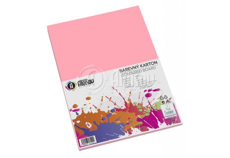 Barevný papír růžový A3/180g/100 listů