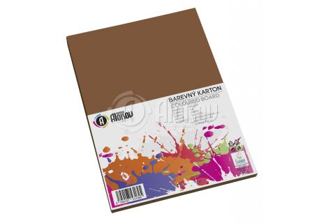 Barevný papír hnědý A4/180g/50 listů