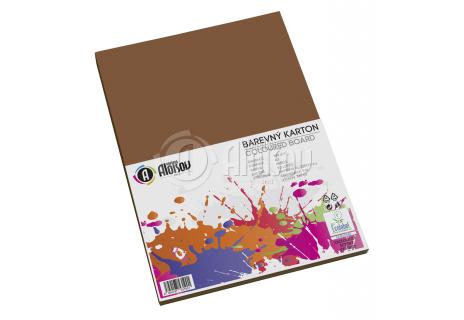Barevný papír hnědý A3/180g/50 listů