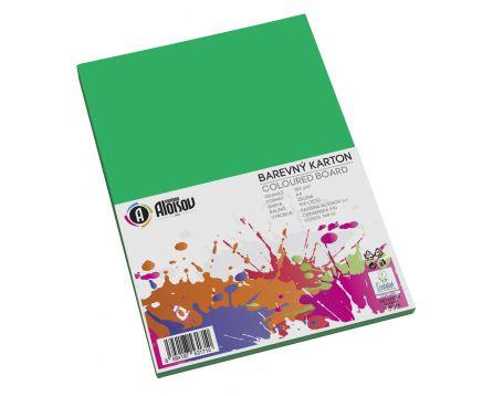 Barevný papír zelený A4/180g/100 listů