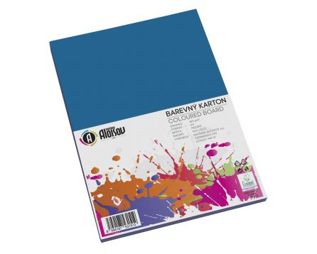 Barevný papír modrý A4/180g/100 listů