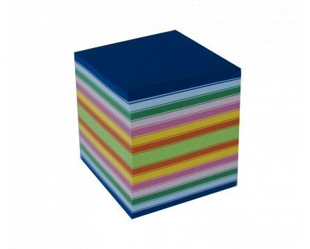 Barevný bloček lepený 8,5x8,5x8,5cm