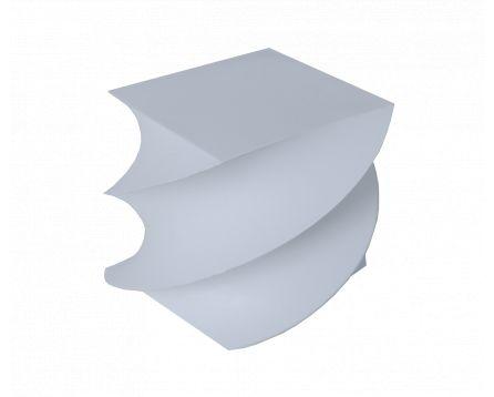 Bílý bloček točený 8,5x8,5x8,5cm