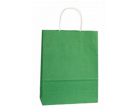 Papírová taška zelená 320x410x140mm