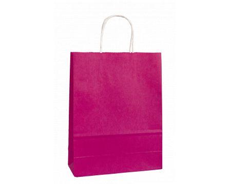 Papírová taška růžová 320x410x140mm