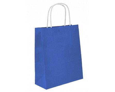 Papírová taška modrá 240x310x100mm