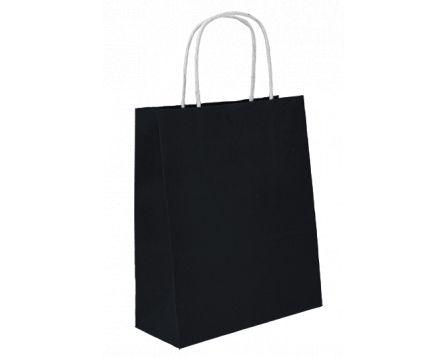 Papírová taška černá 240x310x100mm
